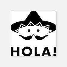 """Chilli-Mustache-03-A Square Sticker 3"""" x 3"""""""