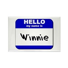 hello my name is winnie Rectangle Magnet