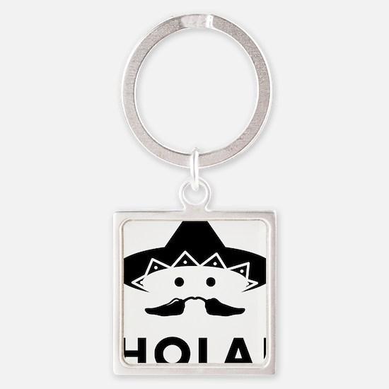 Chilli-Mustache-01-A Square Keychain