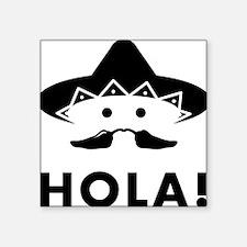 """Chilli-Mustache-01-A Square Sticker 3"""" x 3"""""""