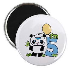 Lil' Panda Boy 5th Birthday Magnet