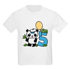 Lil' Panda Boy 5th Birthday T-Shirt