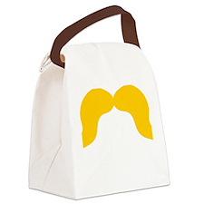 Mustache-004-B Canvas Lunch Bag