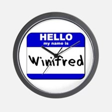 hello my name is winifred  Wall Clock