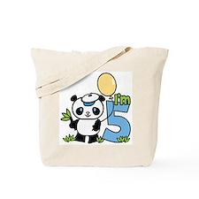 Lil' Panda Boy 5th Birthday Tote Bag