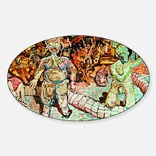 ADAM AND EVE ON JUDGEMENT DAY Sticker (Oval)