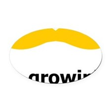 Mustache-013-A Oval Car Magnet