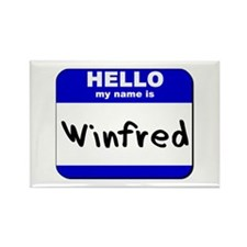 hello my name is winfred Rectangle Magnet