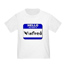hello my name is winfred T