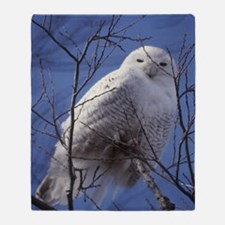 Snowy White Owl Throw Blanket