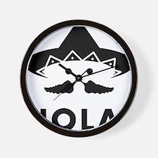 Chilli-Mustache-02-A Wall Clock