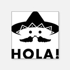 "Chilli-Mustache-02-A Square Sticker 3"" x 3"""