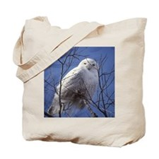 Snowy White Owl Tote Bag