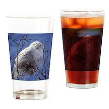 Snowy White Owl Drinking Glass