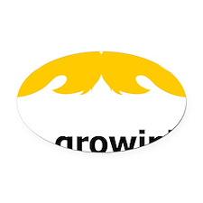 Mustache-045-A Oval Car Magnet