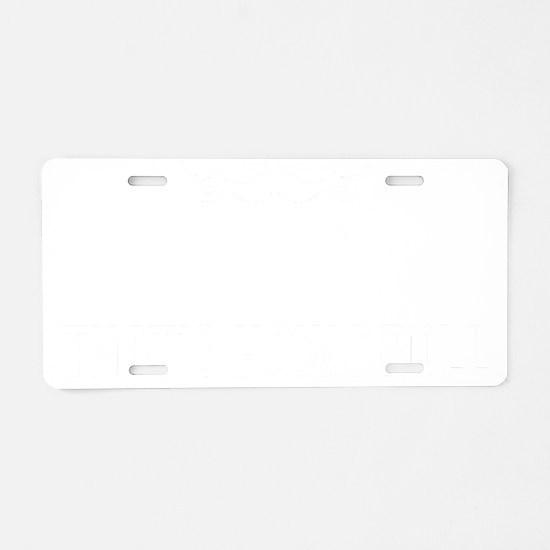 Mustache-069-B Aluminum License Plate