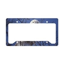 Snowy White Owl License Plate Holder
