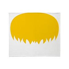 Mustache-044-B Throw Blanket
