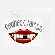 Redneck Vamps Vampire Teeth Greeting Card