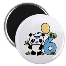 Lil' Panda Boy 6th Birthday Magnet