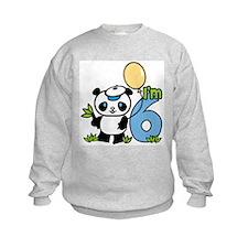 Lil' Panda Boy 6th Birthday Sweatshirt