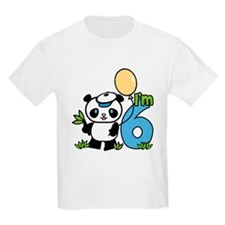 Lil' Panda Boy 6th Birthday T-Shirt