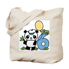 Lil' Panda Boy 6th Birthday Tote Bag