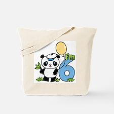 Lil' Panda Boy 6th Birthday Tote Bag