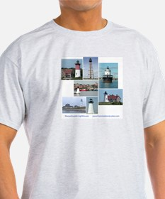 Massachusetts Lighthouses T-Shirt