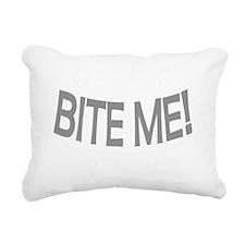 Bite Me Vampire Teeth Rectangular Canvas Pillow