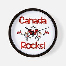 Canada Rocks! Wall Clock