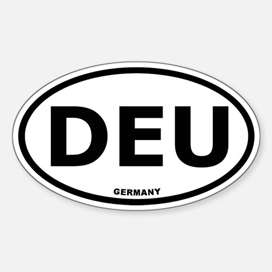 Germany Oval Bumper Stickers
