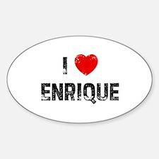 I * Enrique Oval Bumper Stickers