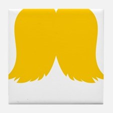 Mustache-050-B Tile Coaster