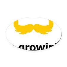 Mustache-068-A Oval Car Magnet