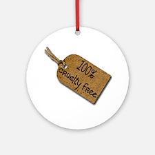 1oo% Cruelty Free 2 Ornament (Round)