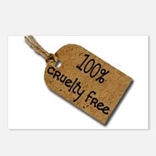 1oo% Cruelty Free 2 Postcards (Package of 8)