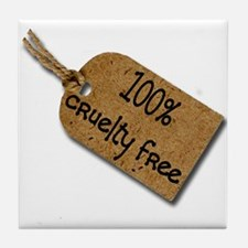 1oo% Cruelty Free 2 Tile Coaster