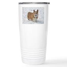 Red and White Corgi in Travel Mug