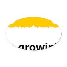 Mustache-077-A Oval Car Magnet