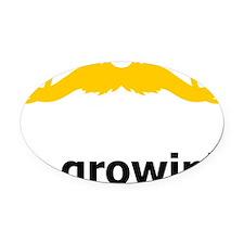 Mustache-079-A Oval Car Magnet