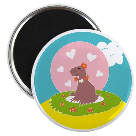 Capybara in Love Magnet