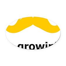 Mustache-087-A Oval Car Magnet
