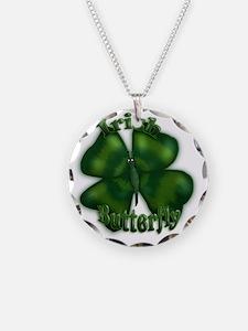 Irish Butterfly (txt) Necklace