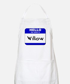hello my name is willow  BBQ Apron