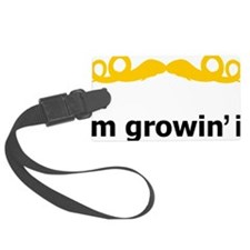 Mustache-074-A Luggage Tag