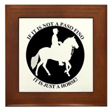 Not a Paso Fino Framed Tile