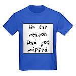 Dad got snipped Kids Dark T-Shirt