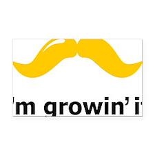 Mustache-081-A Rectangle Car Magnet