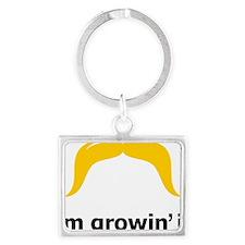 Mustache-085-A Landscape Keychain